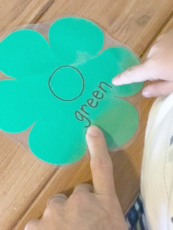 Flowers and butterflies color matching activity for preschool.