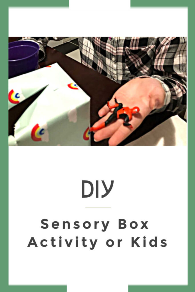 DIY Sensory box activity for kids and brain teaser game for kids