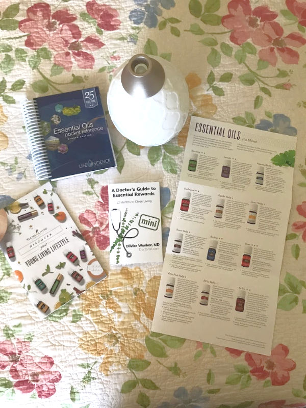 Young Living starter kit comes with your choice of diffuser plus educational resources to help you use the oils and natural living products.