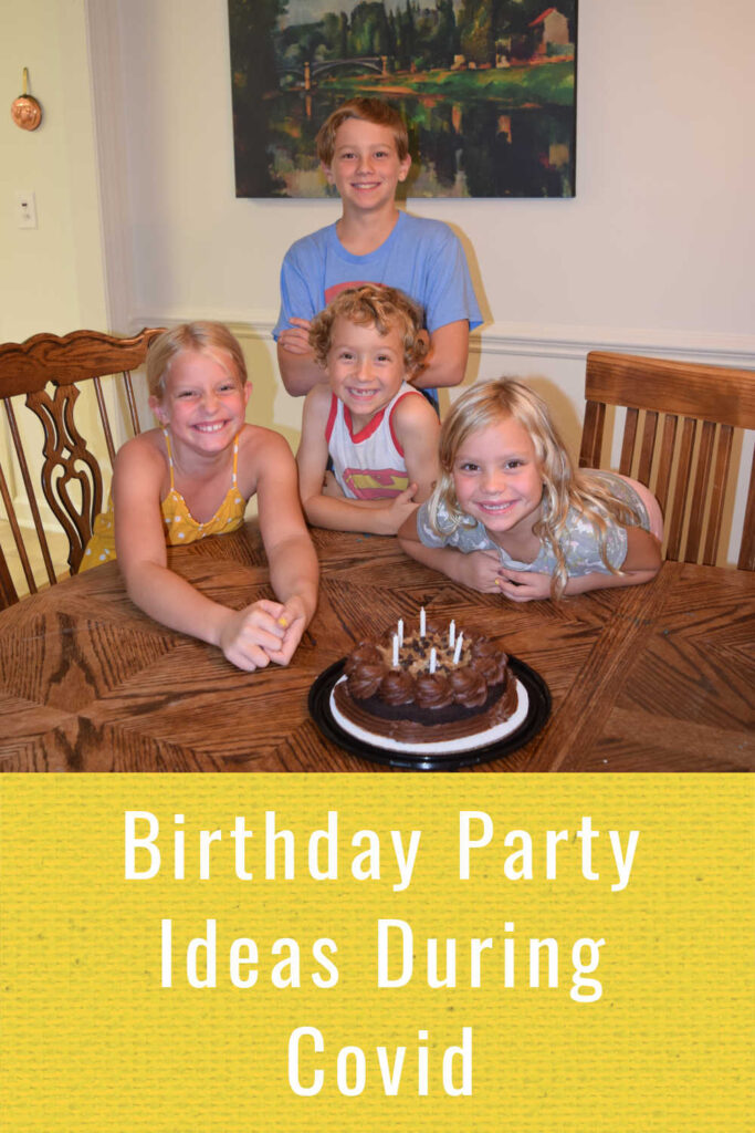 Kids birthday party idea during coronavirus covid 19 pandemic.
