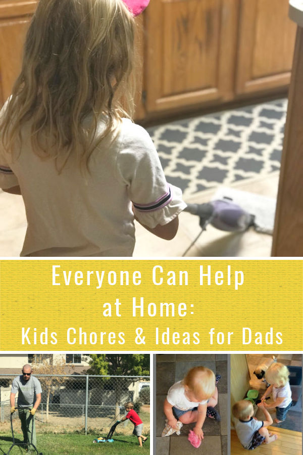 Everyone can help at home-this includes chores for the kids, ideas for dads to spend time with the kids and a focus on the tasks that were most important to complete. I did not have to be the one doing it all at home.