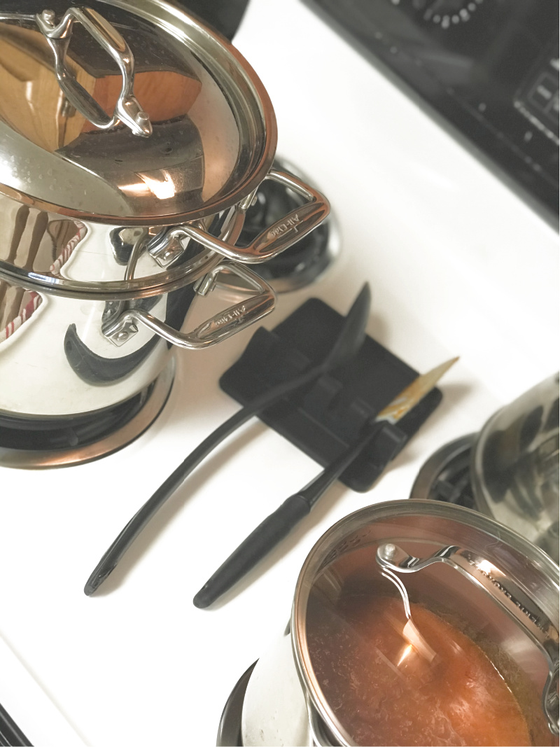 Zulay Kitchen Utensil Rest saves cleaning time. You need these favorite time saving home tools.