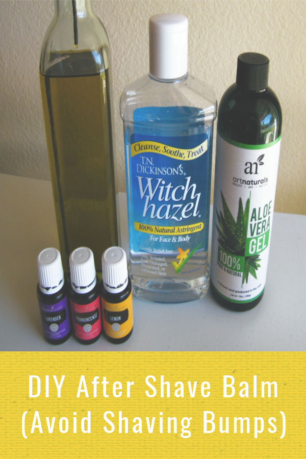 Try this DIY aftershave gift idea for men or women that uses all natural ingredients.