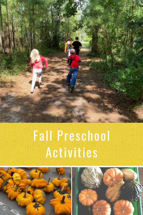 Fall preschool activities for learning and play at home.