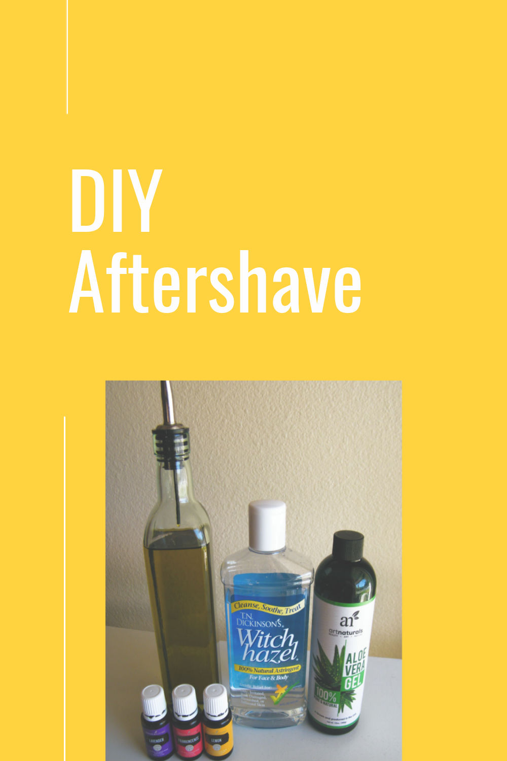 DIY aftershave made with all natural ingredients.