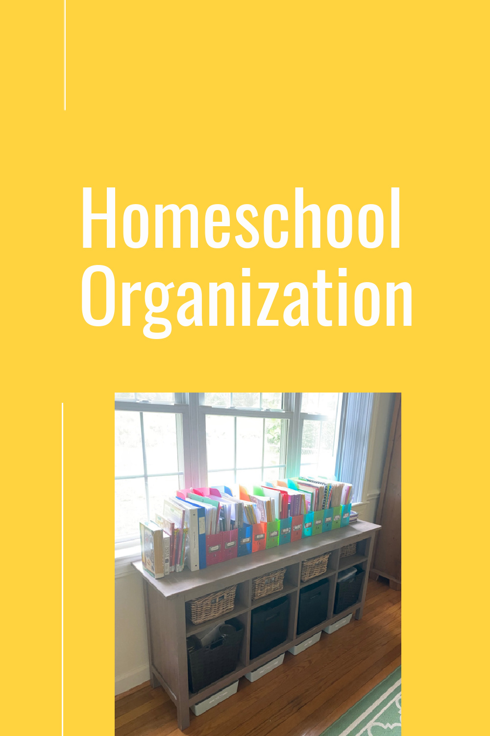 Homeschool organization tips.