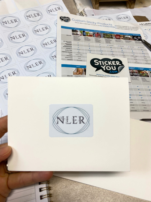 Create custom notecards for home or business notes using custom vinyl stickers from StickerYou.