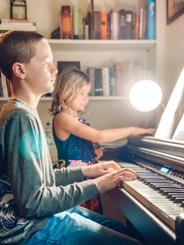 Virtual music lessons for kids on sale this week.