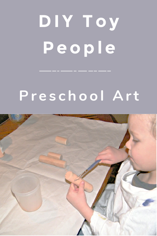 Make DIY toy people with these ideas as a preschool art project and add them to pretend play. You can get really creative with these but they are so simple.