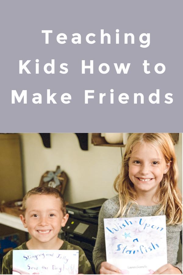 Teaching children to make friends and navigate friendships.