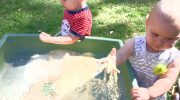 sensory play for babies that can be found in your kitchen pantry
