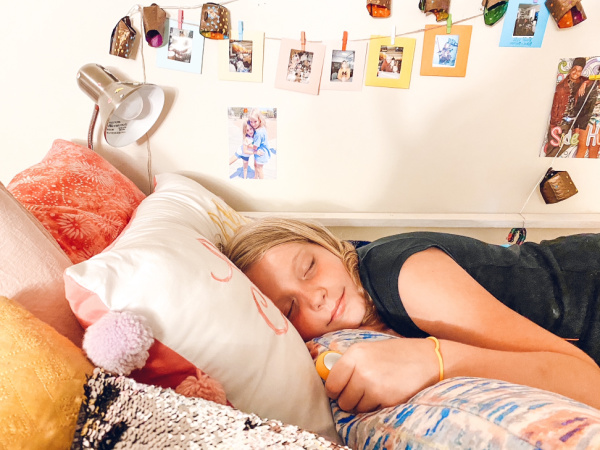 Helping children sleep and calm down with 5 tips to reset and get rest.