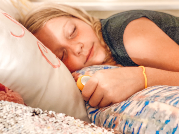 Help kids calm down and fall asleep faster with The Chill Pill and  these 5 sleep tips for kids.