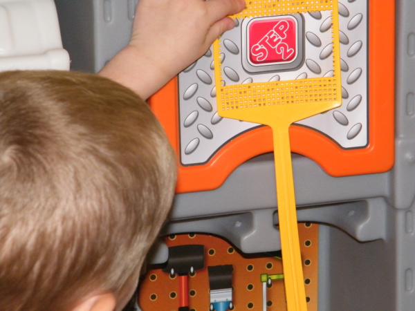 DIY Dollar Store at home word find wand and reading activity for preschoolers.