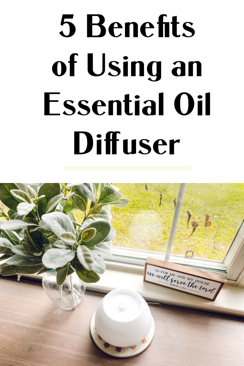 5 benefits of using a diffuser at home for scent, wellness and purifying.