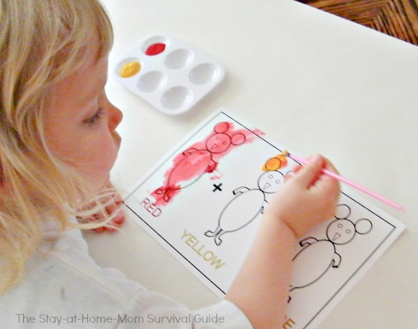 Preschool activity for summer or school year enrichment. Makes a great preschool at home curriculum.