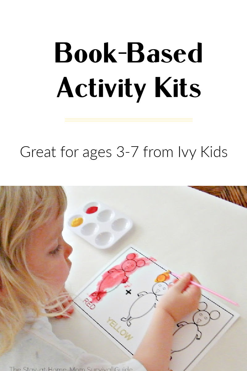 Book-based activity kits for kids. Great preschool at home option.