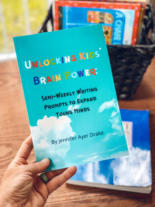 Unlocking Kids Brain Power book of writing prompts for kids.