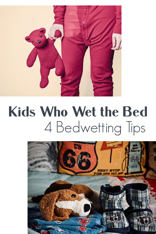 Four bedwetting tips for potty training kids who wet the bed.