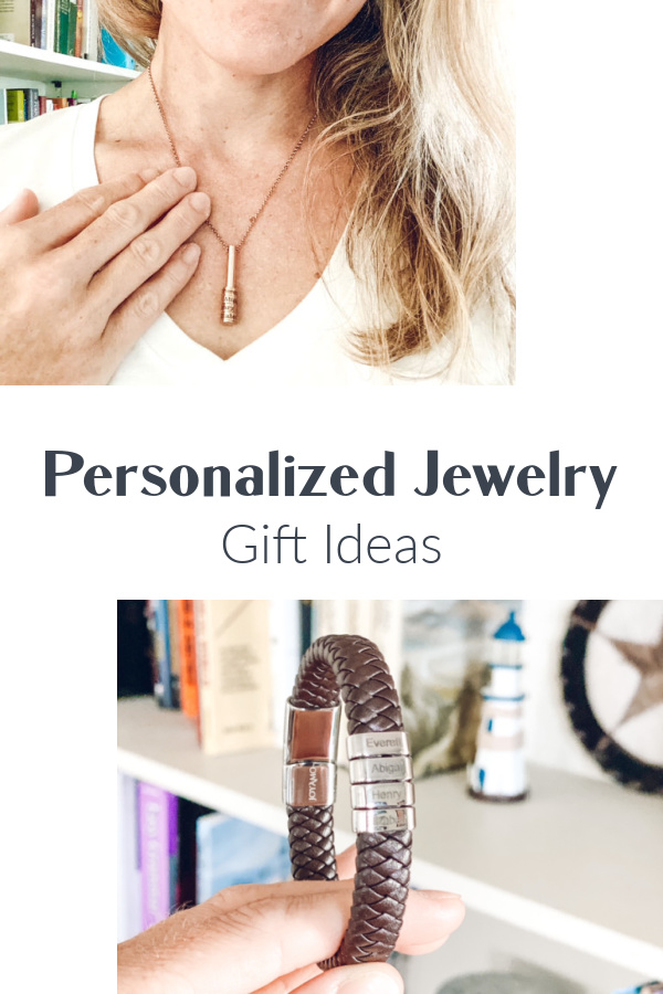 Personalized necklaces for moms and mother's day gift idea.