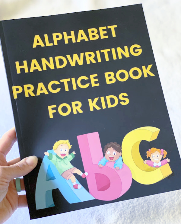 Alphabet Handwriting Practice Book for Kids available on Amazon.