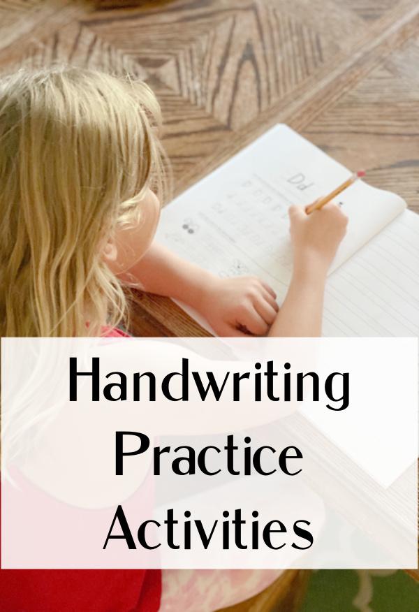 Handwriting practice fun activities for kids.