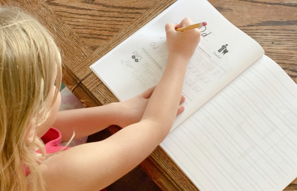 Alphabet Handwriting Practice Book for Kids is a great tool for practicing handwriting skills.